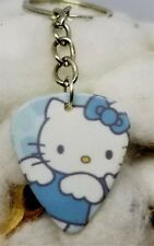Hello Kitty with Blue Bow Guitar Pick Key Chain