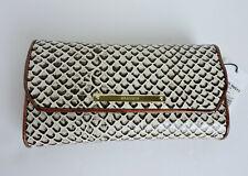 Brahmin Onyx Java Black Beige Brown Embossed Leather Soft Checkbook Wallet NWT