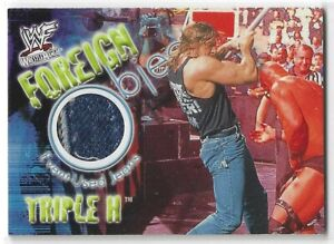 Triple H 2001 Fleer WWF Foreign Objects Event-Used Jeans Card WWE