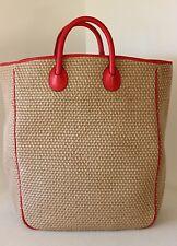 NWT NEW Vintage BOTTEGA VENETA Jute XL BEACH TOTE SHOPPER BAG HANDBAG Italy EC