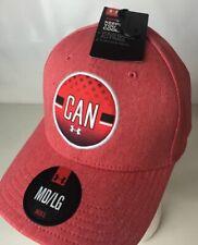 Under Armour Team  Canada Hat Cap UA Heatgear Stretch Fit M/L Maple Leaf Logo