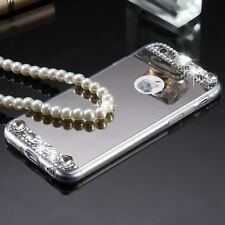 Glitter Diamond Mirror Case Crystal Back Cover for iPhone Samsung Galaxy Phones