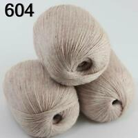 Sale New 3 Skeins Mongolian Pure Cashmere Wrap Shawls Hand Knitting Wool Yarn 04