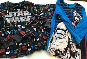 STAR WARS Kids Boys PJ Nightwear Set and All in One Sleepsuit Bundle 8 Years