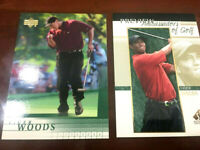 2001 UPPER DECK TIGER WOODS #1 RC & 2001 UD SP PREVIEW AMBASSADORS OF GOLF #51