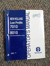 New Holland Operator's Manual for 4 Cylinder 7010 & 8010 Low Profile Ag Tractor