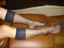 Lot 7 Paires mi bas men's socks sheer noir Ref US02 T-39/46 gay int