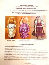 "Ng Creations Sewing Pattern #1 fits 16"" Sasha Doll Makes 3 High-Waist Dresses"