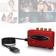 NEW U-CONMTOL UCA222 USB-Audio Interface Adapter Red with Box MO