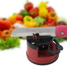 Knife Sharpener Scissors Grinder Secure Suction Chef Kitchen Sharpening Tool NL