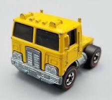 1973 Hot Wheels Redline Yellow Road King Semi Truck Cab vintage