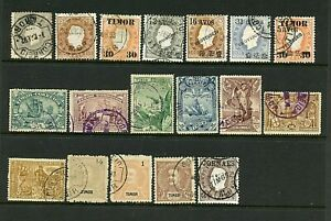 Timor #17//56 & #P2 (TI314) (18) issues 1887-1898, Used, FVF, CV$124.65