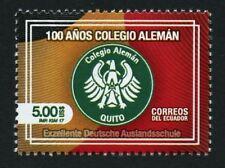 Ecuador 2017 Deutsche Auslandsschule Quito German School Wappen Postfrisch MNH