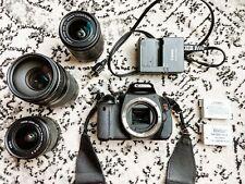 Canon Rebel T3i DSLR Camera Bundle w/ Body, Lenses, Batteries, Strap, & Charger