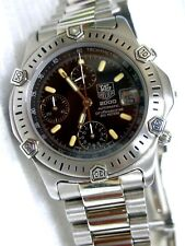 TAG HEUER super 2000 AUTOMATIC CHRONOGRAPH  pro.200m, BLACK, MIRROR FINISHED
