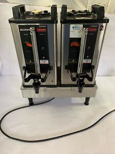 2x Bunn SH Coffee Server 27850-0012 Dunkin Donut Stainless Steel 1.5g w/ Base