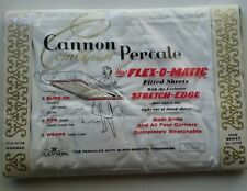 NOS VINTAGE CANNON PERCALE 100% COTTON FULL DOUBLE FITTED WHITE SHEET