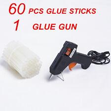 Hot Melt Glue Gun with 60 Mini Clear Glue Sticks for DIY Handmade Arts Craft