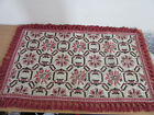 """Vintage Lord & Taylor wool 2'x4"""" 2 sided tassel rug from Spain"""