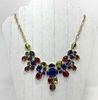 VCLM Royal Red Blue Purple Yellow Green Rhinestone Choker Necklace