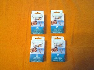 HP Zink Photo Paper Set of 4 (20 count per pack)
