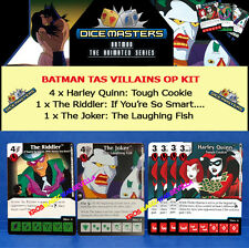 DC DICE MASTERS BATMAN TAS VILLAINS OP KIT - The Joker, Riddler, 4x Harley Quinn