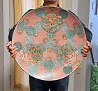 "Beautiful Massive Antique Japanese Imari Arita Porcelain Charger Plate 22"""