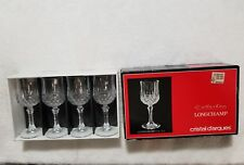 Cristal D'Arques Longchamp Collection (4) 2 oz Lead Crystal 24% PbO Glasses