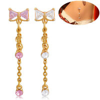 Surgical Steel Crystal Rhinestone Belly Button Navel Ring Body Piercing Jewelry
