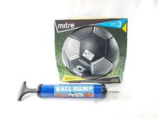 Mitre Metallic Soccer Ball Official Size 3 Kids Youth Plus Ball Pump With Needle