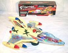 BUMP AND GO LIGHT UP FLASHING MILITARY JET PLANE battery operated toy AIRPLANE