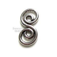 5 Connecteurs entre-deux Spirale 26x13x2mm Perles apprêts création bijoux _ A200