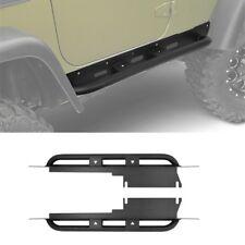 2 x Steel Side Step Front Running Board for 1987-2006 Jeep Wrangler TJ 2 Door