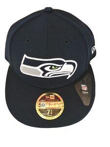 New Era 59Fifty NFL Cap Seattle Seahawks Football Cap Hat Size 7 1/4 Authentic