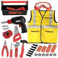 Kids Tool Set - 32Pcs Construction Tool Toys with Play Electric Drill