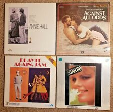 Lot of 4 Laserdiscs Against All Odds Annie Hall Play it Again Sam & Star 80