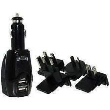 USB Auto Charger + International Wall Adapters, Car Charger and Adapter Combo