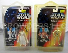 Sw PotF Red Card Princess Leia Organa 3 Band Belt & C-3Po 1995 Kenner NiB Rare