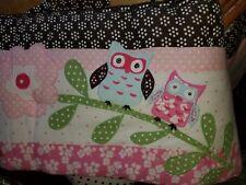 "Pottery Barn Kids Woodlands - Owl/Butterfly"" Crib Bumper"