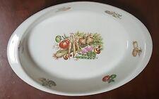 "APILCO Chamart France Porcelain 10"" Vegetable Oval Baker Cassarole Dish Ribbed"
