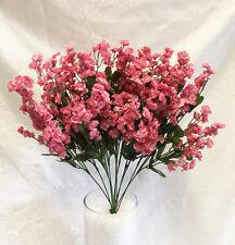 12 Baby's Breath  Mauve Dusty Rose  Gypsophila Silk Wedding Flowers Centerpieces