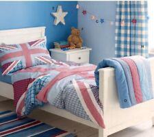 Laura Ashley Kids Union Jack Single Duvet Set And Striped Throw Bedspread