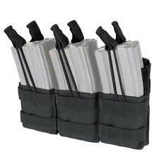 Condor MA44 Black MOLLE Triple Stack Open Top 5.56 .223 Magazine Pouch Holds Six