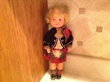 "12"" Roddy Scottish Doll Marked Made In England Dressed"