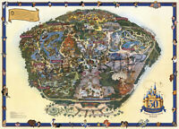 Walt Disney's Guide to Disneyland  Disney Wall Map Poster 11X16 inches Reprint