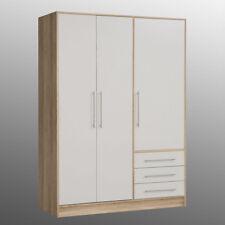 Kleiderschrank Jupiter Schlafzimmerschrank Schrank Sonoma Eiche und weiß 145 cm