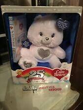 NEW IN BOX 25TH ANNIVERSARY SWAROVSKI CARE BEAR PLUSH & DVD 2007 SPECIAL EDITION