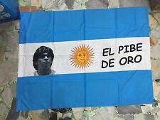 1 bandiera MARADONA  ARGENTINA 140x100cm FLAG EL PIBE DE ORO BANDERA 10