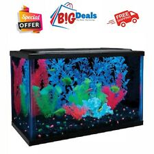 5 Gallon Tetra Crescent Acrylic Fish Tank Glass Aquarium Kit Filter Led Lighting