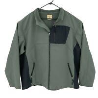 RedHead Softshell Jacket Mens Size 3XL Gray/Black Fleece Lined Full Zip Outdoor